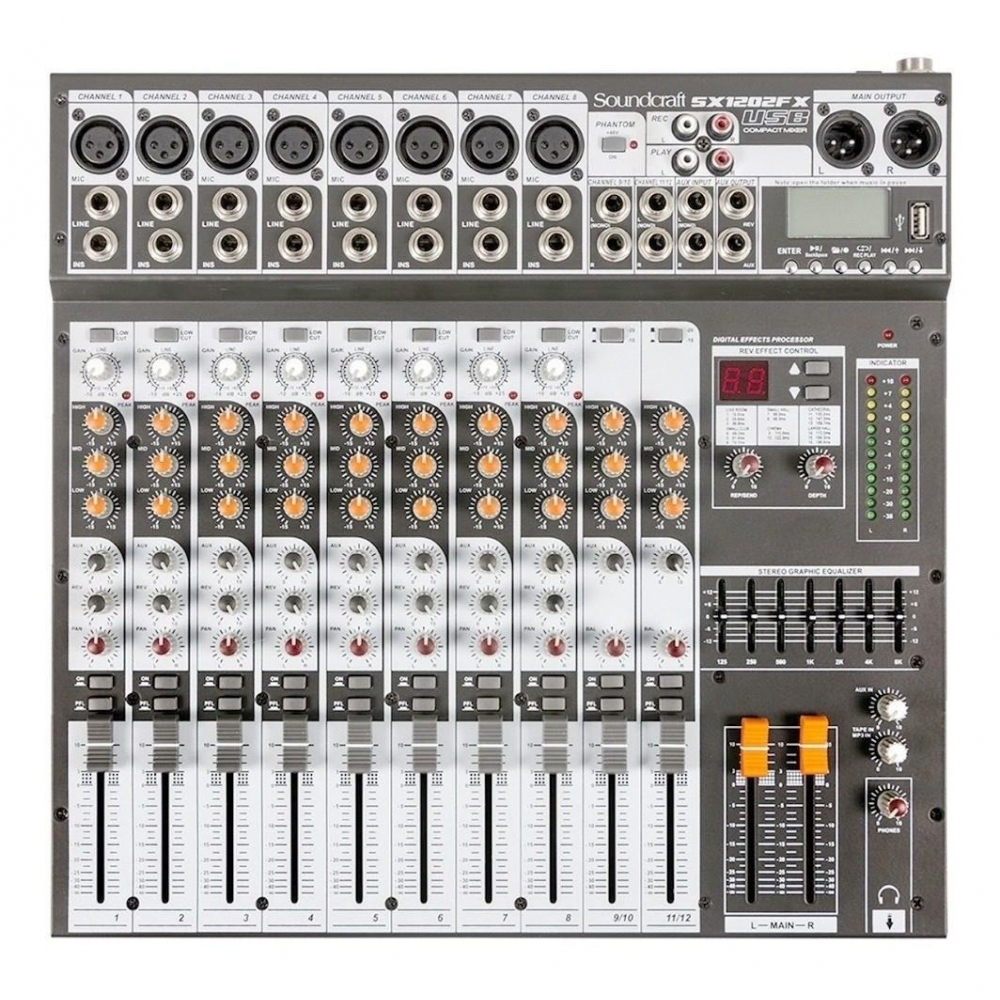 Foto 1 - MESA SOUNDCRAFT SX1202FX USB