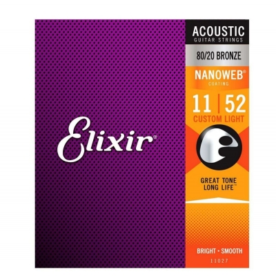 ENC ELIXIR VIOLAO CUSTON LIGHT AÇO 0,11